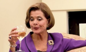 Lucille Bluth is the hysterically funny mom from Arrested Development. Do yourself a favor and watch the entire series from the beginning. It's awesome.