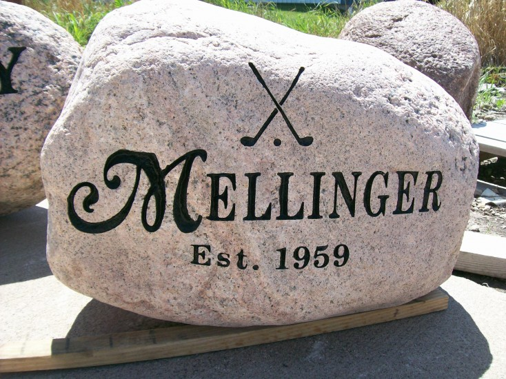 Photo from MolineMonument.com. JOIN THE COOL KIDS CLUB. Call them to get your own front yard rock now!