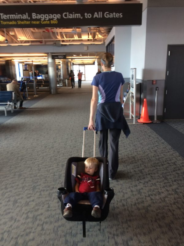 After Squeak Got Used To Riding In The Car Seat Stroller He Actually Preferred Be Taken On And Off Plane
