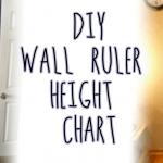 DIY Wooden Ruler Height Chart